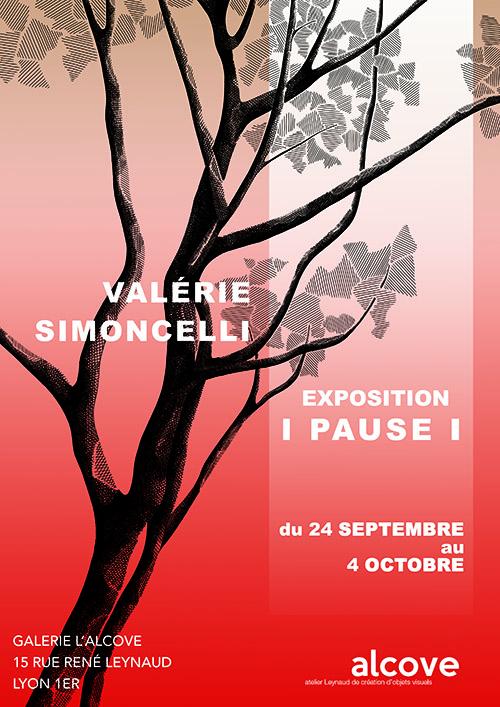 """Affiche """"Pause"""" Valérie Simoncelli"""